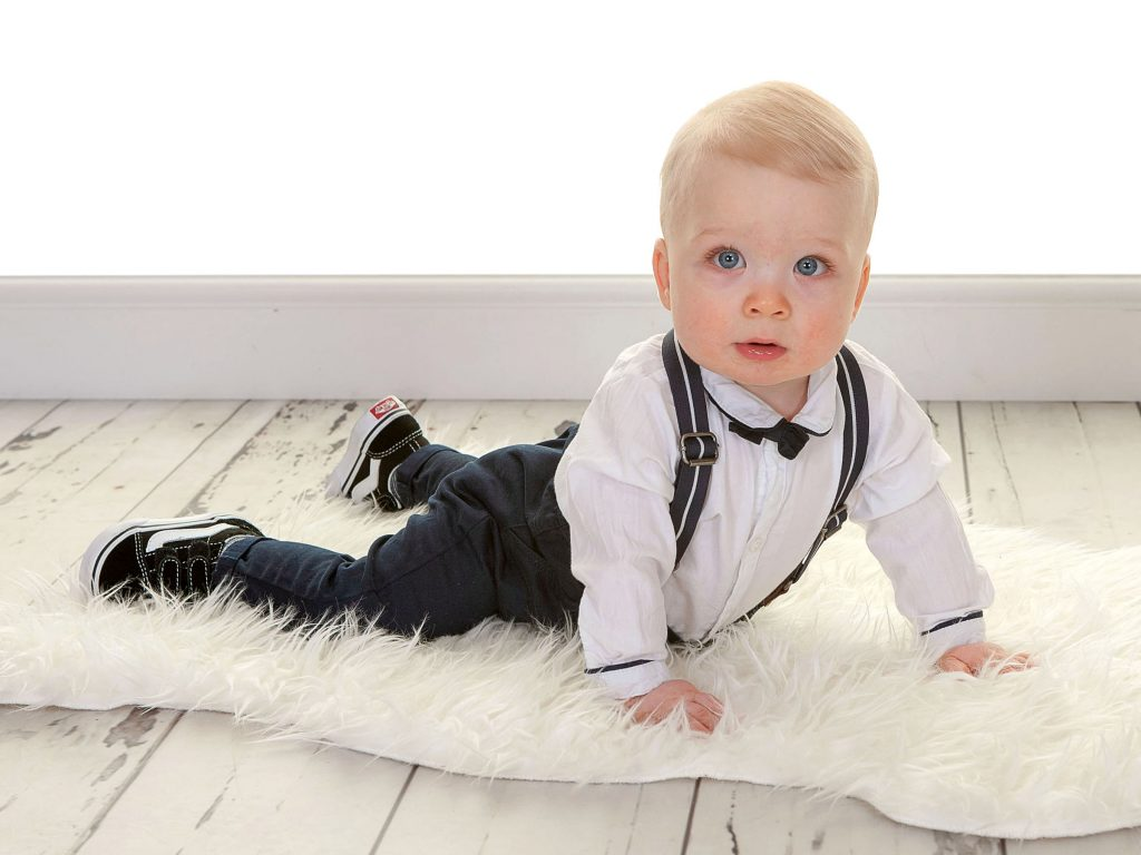Little boy with bow tie