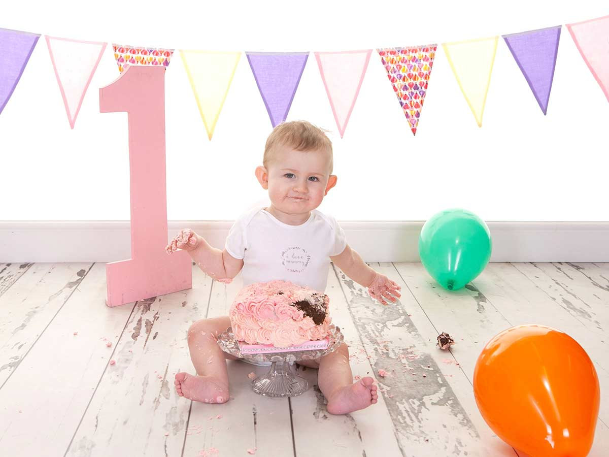 cake smash photoshoot for babies